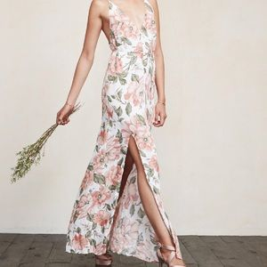 Citrine Dress in Pink and White Floral